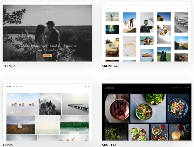 Squarespace photography templates