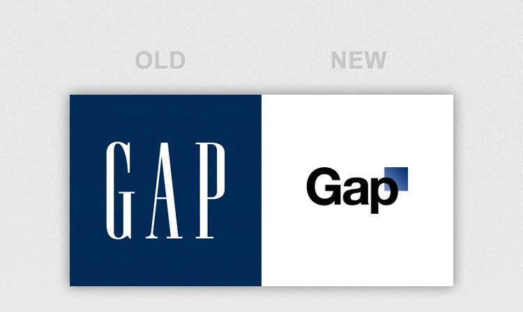 Old gap vs new gap logo