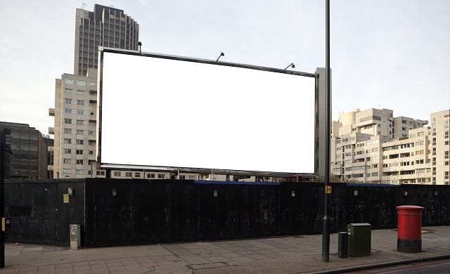 Billboard advertising UK