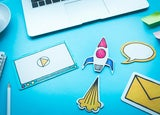 Entrepreneur starting an online business from home