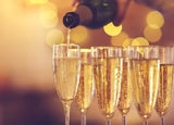 Champagne being poured at a party or event