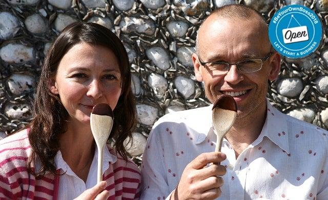 Montezuma's Chocolates co-founders Helen and Simon Pattinson