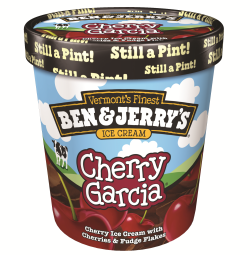 Ben and Jerry's Cherry Garcia ice cream