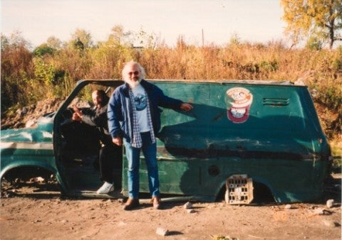 Ben and Jerry's Jeff Furman and the ice cream company's Russian delivery van