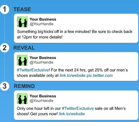 Twitter for business: flash sales