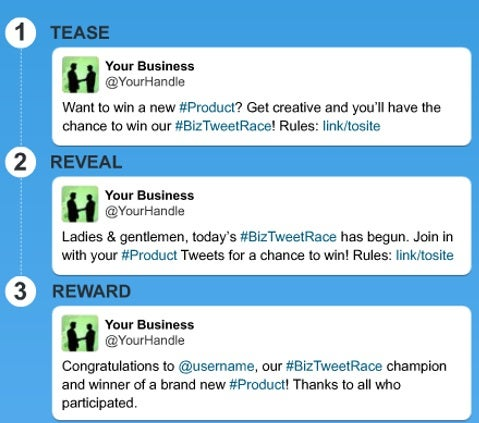 Twitter for business: tease, reveal and reward