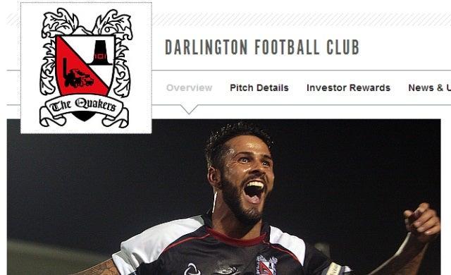 Darlington Football Club secures £55,000 through crowdfunding site Squareknot