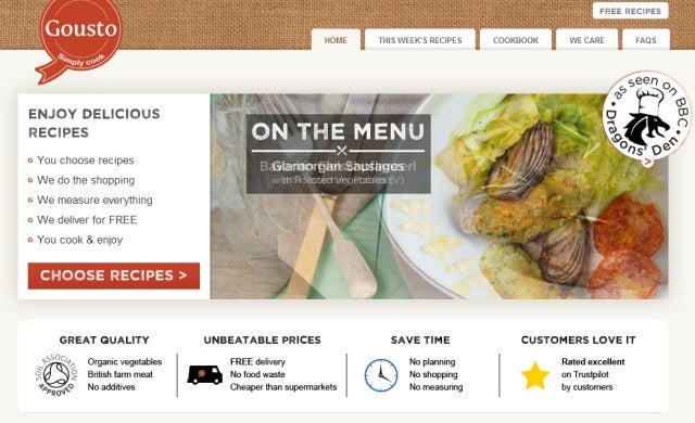 Recipe box start-up Gousto raises additional $300,000 in angel investment