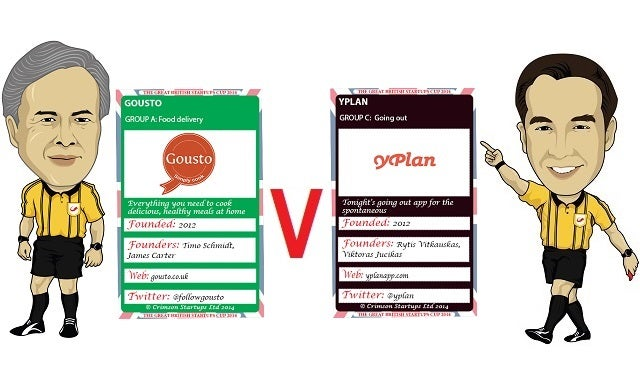 The Great British Startups Cup 2014: Gousto v YPlan