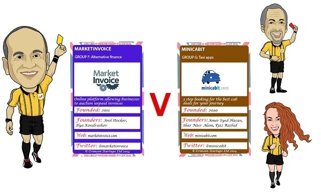 The Great British Startups Cup 2014: MarketInvoice v Minicabit