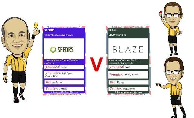The Great British Startups Cup 2014: Seedrs v Blaze
