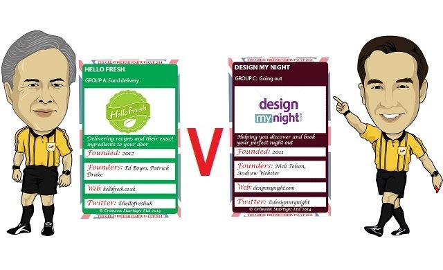 The Great British Startups Cup 2014: Hello Fresh v DesignMyNight