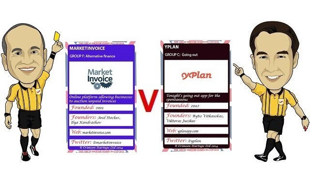The Great British Startups Cup 2014: YPlan v MarketInvoice