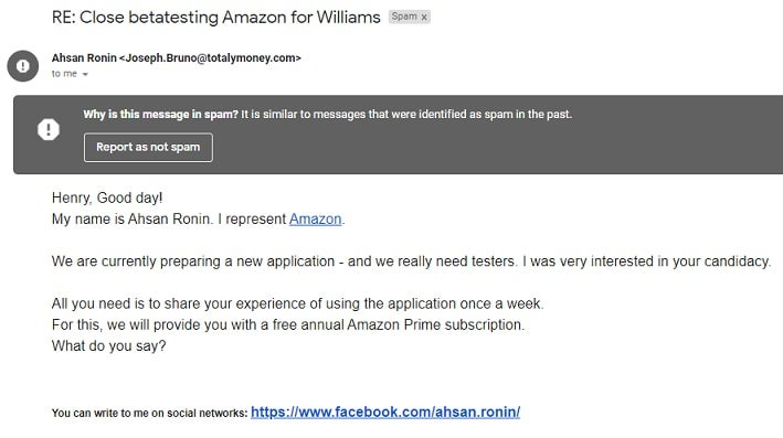 Another phishing attempt