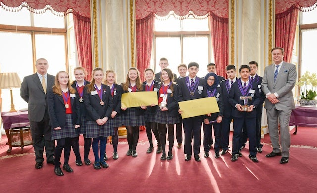 Peter Jones CBE crowns Tycoon in Schools winners at Buckingham Palace