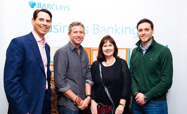 Richard Phelps, Barclays; Paul Lindley, Ella's Kitchen; Julie Deane, Cambridge Satchel Company; and Eamon Fitzgerald, Naked Wines