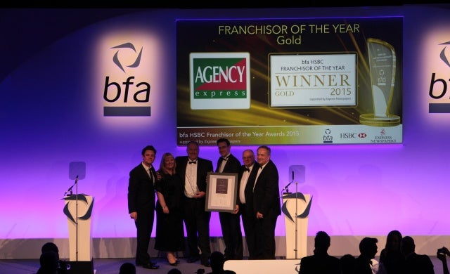 Agency Express crowned bfa Franchisor of the Year 2015