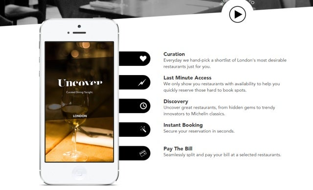 Restaurant reservation app Uncover acquired by start-up competitor Velocity
