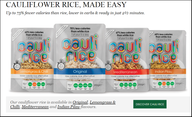 Cauliflower rice start-up scoops £1m from the crowd
