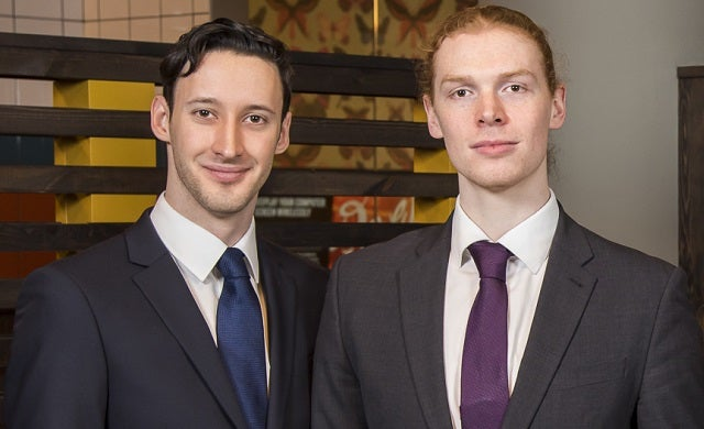 Young entrepreneurs: Richard Evans and Rory Curnock Cook, The Profs
