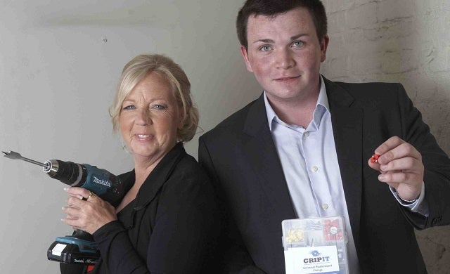Jordan-Daykin-and-Deborah-Meaden-Grip-It-Fixings