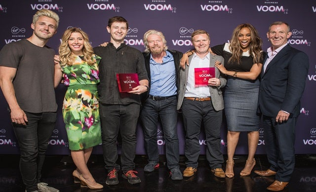Richard Branson crowns winning start-ups of VOOM 2016