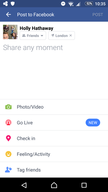 Facebook live example