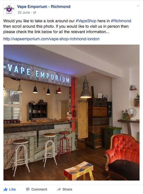 Vape Emporium Facebook 360