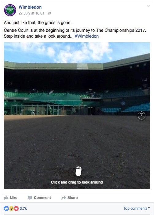 Wimbledon Facebook 360