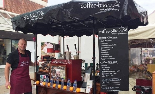 First-time franchise owner offering coffee-on-wheels in Worcester