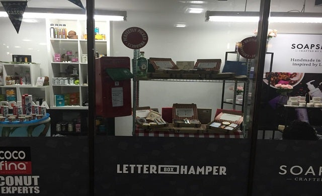 LetterBox Hamper displays