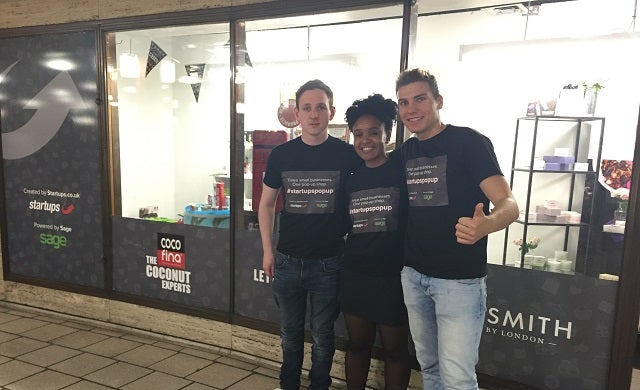 Startups Towers staff show off their branded tops