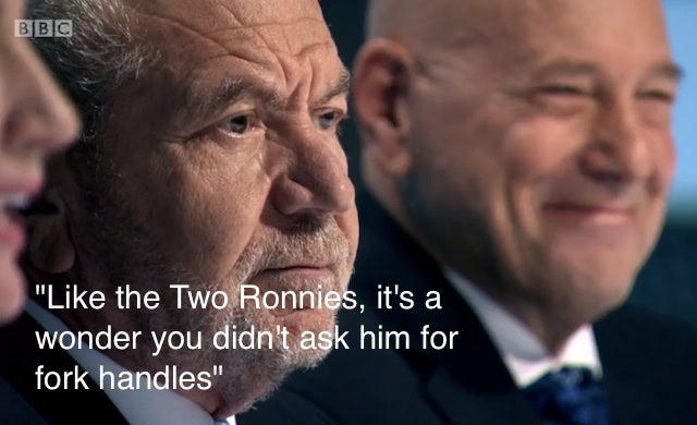 Lord Sugar Two Ronnies