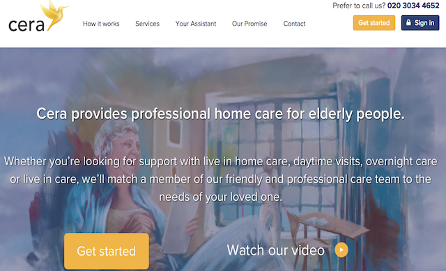 On-demand care service Cera lands £1.3m in seed funding