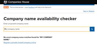 Company formation company name availability checker