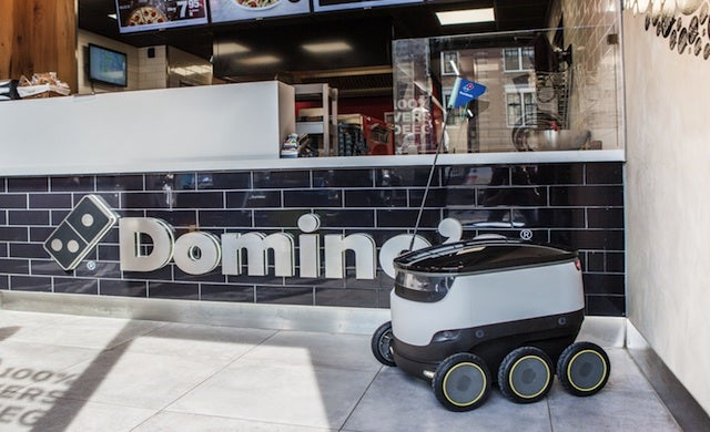 Domino's franchise expands offering with delivery robots