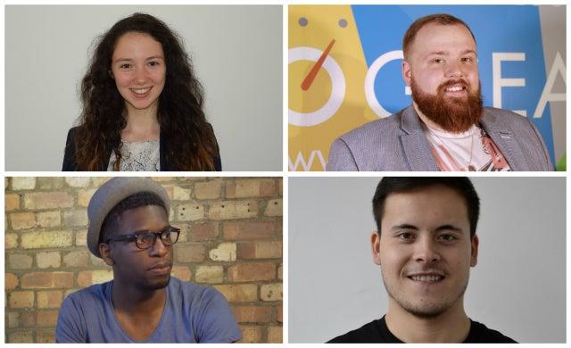 Young entrepreneurs: Doug Walker, Kurt Henderson, Olivia Higgs and Tom Charman, KOMPAS