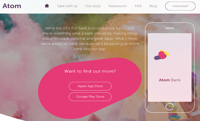 Mobile-only Atom Bank bags £83m