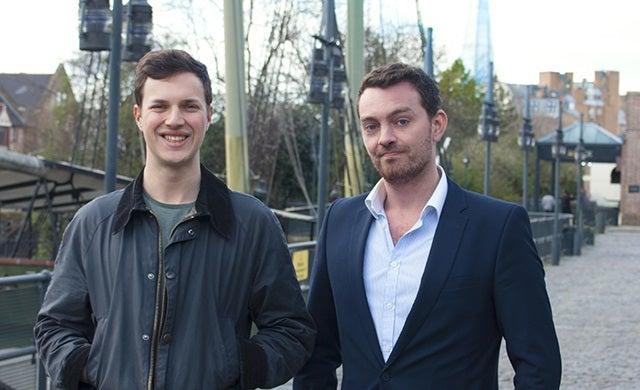 Young entrepreneurs: Ben Corrigan and Jonny Plein, Pouch