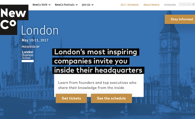 Innovation festival NewCo returns to London this May