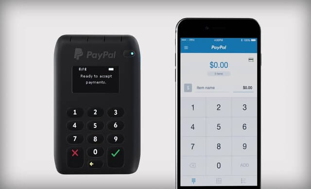 paypal card machine