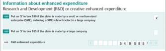 R&D tax credit tax break form