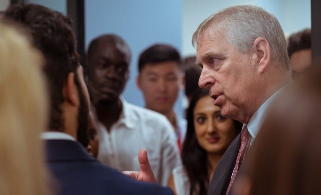 Student entrepreneurs pitch their business ideas to Duke of York at King's Demo Day