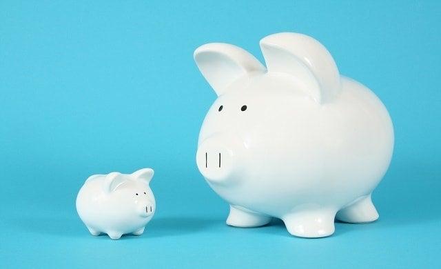 Big piggy bank small piggy bank