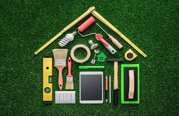 Tradesperson DIY home renovation