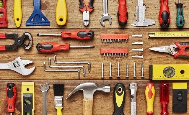 Construction company building tools