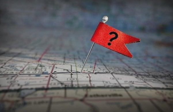 Map city location startup