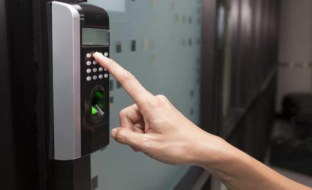 fingerprint clocking in machine