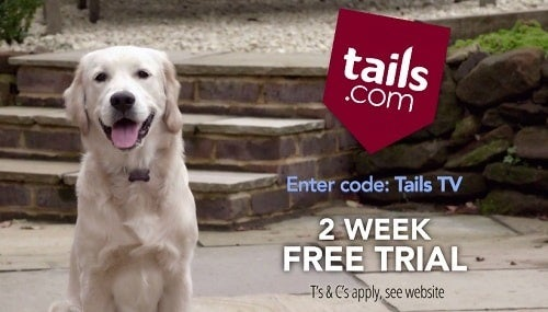 A still from a tails.com TV advert