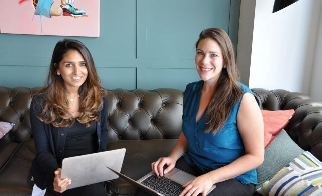 Co-founders Riya Grover and Lyz Swanton